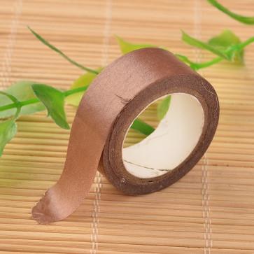 Washi tape - dekorativni lepilni trak - rjav, širina: 15 mm, dolžina: 5 m, 1 kos
