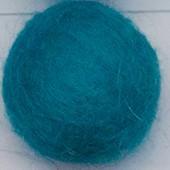 filc kroglice 1 cm, turkizne b., 1 kos