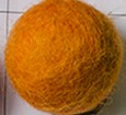 filc kroglice 1 cm, golden orange, 1 kos