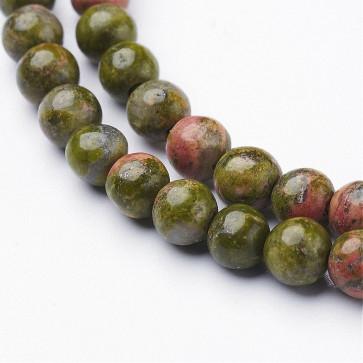 perle iz naravnega kamna 4 mm, 1 niz - 38 cm
