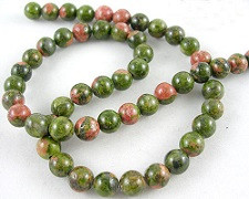perle iz naravnega kamna 6 mm, 1 niz - 38 cm