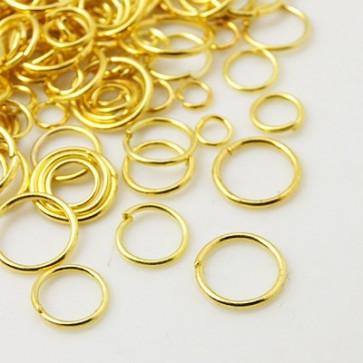 zaključni obroček 4mm~10mm, zlat, 50 gr