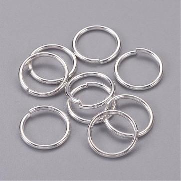 zaključni obroček 12 mm (zunanji premer), srebrne b., debelina: 1.2 mm, notranji premer: 9.6 mm, 10 g (cca 40 kos)