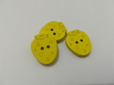 gumbi leseni - jagoda 20x16 mm, rumeni, 1 kos