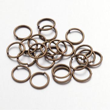 zaključni obroček 8 mm, antik, brez niklja, 50 gr
