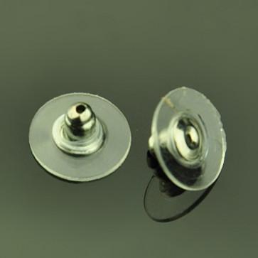 zaključek za uhan 11x11x7 mm, prozoren, velikost luknje: 1 mm, 1 kos