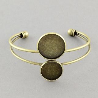 kovinska osnova za zapestnico, antik, velikost kapljice: 16 in 20 mm, 1 kos