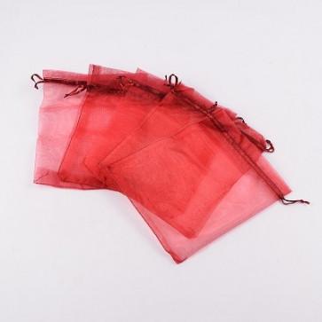 organza vrečke 14x17 cm, rdeče, 1 kos
