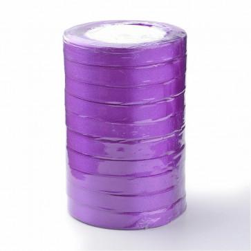 satenast trak Purple, širina: 6 mm, dolžina: 22 m