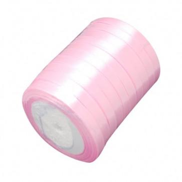 satenast trak sv. roza, širina: 6 mm, dolžina: 22 m