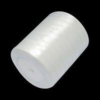 satenast trak mlečno bel, širina: 6 mm, dolžina: 22 m