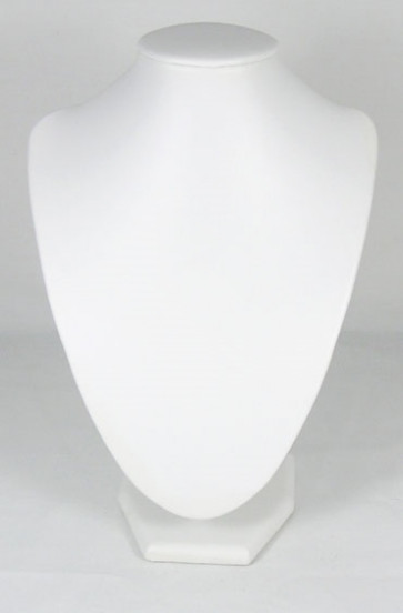 stojalo za nakit - dekolte, 17 x 25 cm, bele b., 1 kos