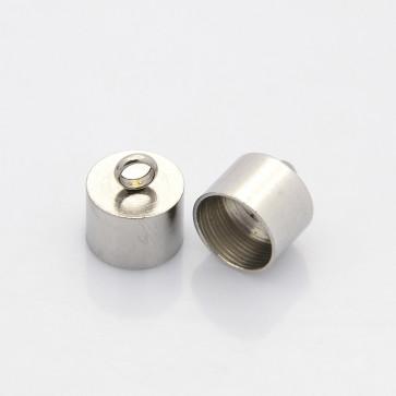 zaključni element 13 x 11 mm, nerjaveče jeklo, notranji preme luknje: 10 mm, 1 kos