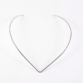 osnova za ogrlico - nerjaveče jeklo 304, 14x12 cm, 1 kos