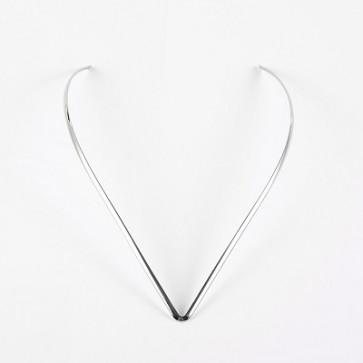 osnova za ogrlico - nerjaveče jeklo 304, 17x13 cm, 1 kos