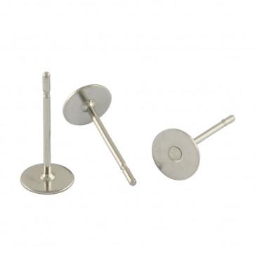osnova za uhan 12x4x0.6mm, nerjaveče jeklo, velikost ploščice: 4 mm, 10 kos