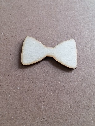 leseni obesek - pentlja, 3.3 cm, naraven, brez luknje, 1 kos