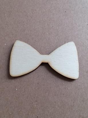 leseni obesek - pentlja, 5 cm, naraven, brez luknje, 1 kos