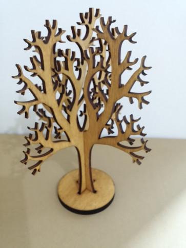 leseno stojalo za uhane, 20 cm, 1 kos