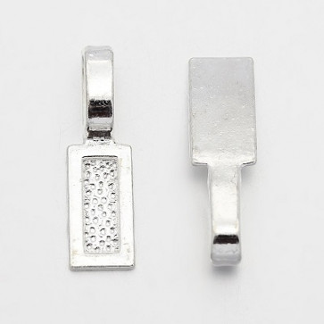 nastavek za obesek 26x8x1 mm, srebrne barve, velikost luknje: 8x5 mm, 1 kos