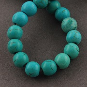 perle iz sintetičnega kamna 6 mm, 1 niz - cca 60 kos