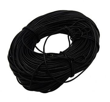 usnjena vrvica 4 mm, črna, 1 m