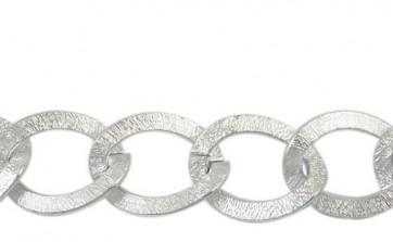osnova - aluminijasta, 20x15x1.8 mm, srebrne b., 2 m