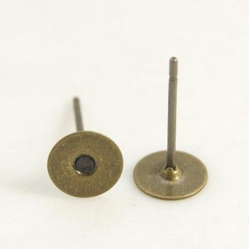 osnova za uhan 10x6 mm, antik, nerjaveče, 50 kos