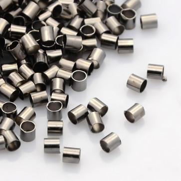 štoparji ravni, 3x3 mm, luknja 2,5 mm, črne barve, brez niklja, 10 g/cca 500 kos
