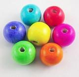 lesene perle okrogle 18x16 mm, mix, 20 kos