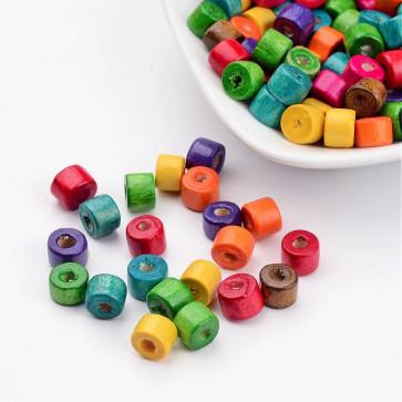 lesene perle 7x6mm, mix, 200 kos