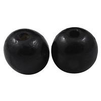 lesene perle okrogle 19~20x17.5~18mm, črne, 10 kos