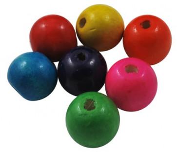 lesene perle okrogle 19~20x17.5~18mm, mix, 20 kos