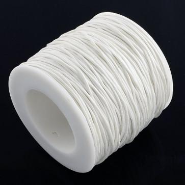 bombažna vrvica 1 mm, bela, povoščena, 84 m