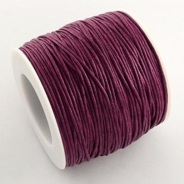 bombažna vrvica 1 mm, Purple, povoščena, 84 m