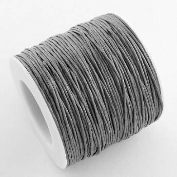 bombažna vrvica 1 mm, siva, povoščena, 84 m
