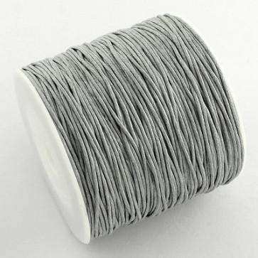 bombažna vrvica 1 mm, svetlo siva, povoščena, 84 m
