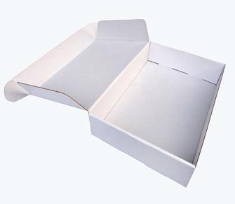 zložljiva škatla iz kartona 16.5x16.5x3.4 cm, bela (zunaj in znotraj), 1 kos