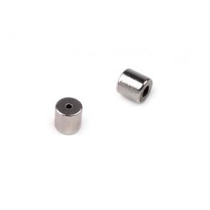 zaključni element 5 x 5 mm, magnet, srebrne b., 1 kos