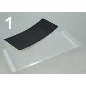 kartonček za uhane in ogrlico 8.3x19.3 cm, črne b., 1 kos