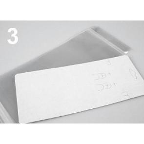 kartonček za uhane in ogrlico 8.3x19.3 cm, bele b., 1 kos