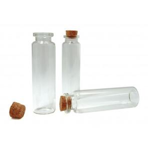 embalaža iz stekla 20 x 75 mm, prozorna, 1 kos