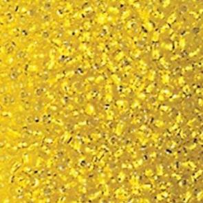 EFCO steklene perle 3,5 mm, prosojne, rumene barve, 17 g
