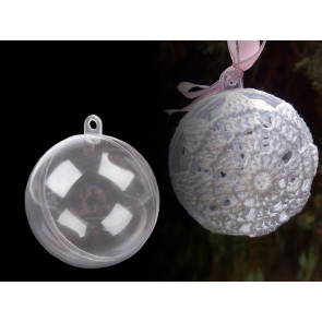 plastična kroglica - dvodelna, 8 cm, 1 kos