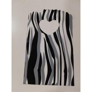 vrečka pvc 8x14 cm, zebra, 10 kos