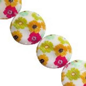 školjke, okrogle - ploščate 25 mm, 1 niz-38 cm