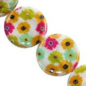 školjke, okrogle - ploščate 30 mm, 1 niz-38 cm