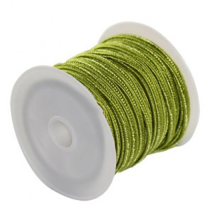 soutache vrvica 2,5 mm, barva: olive, 4 m