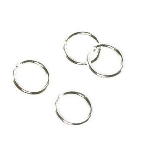 zaključni obroček 6 mm, srebrne barve, 100 kos
