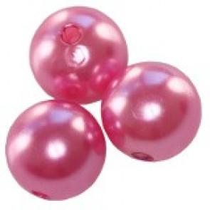 plastične perle okrogle, 10 mm, pink, 50 gr